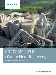 SICEMENT WHR (Waste Heat Recovery) - Siemens Industry, Inc.