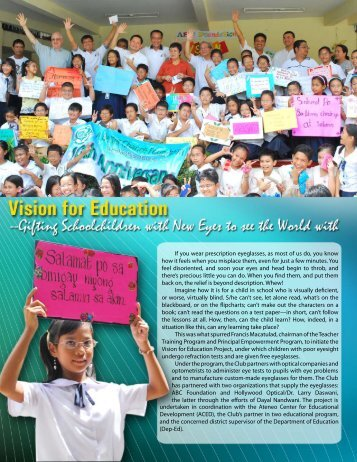 Vision for Education - Rotary Club of Makati