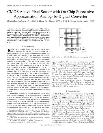 CMOS Active Pixel Sensor With On-chip Successive ... - Eric Fossum