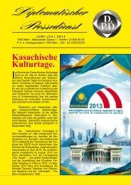 Kasachische Kulturtage. - Diplomatischer Pressedienst