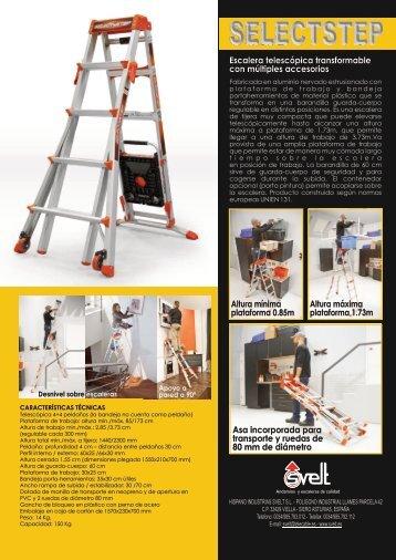 ficha tcnica escalera de aluminio logismarket