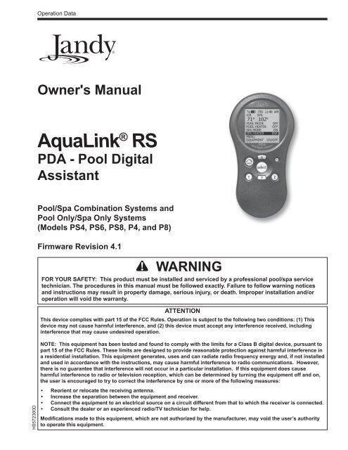 alpha-grp.co.jp Zodiac AquaLink PDA-PS4 4 Auxiliary Pool Digital ...