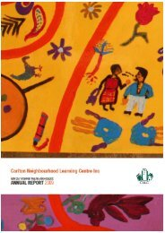 CNLC Annual Report 2009 - Carlton Neighbourhood Learning Centre