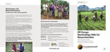 DR Kongo: Nachhaltige Hilfe für Bauernfamilien - FH Suisse