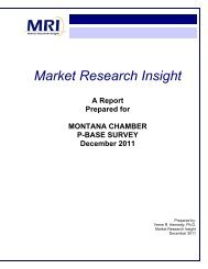 2011 P-Base Survey - Montana Chamber of Commerce