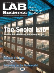 Science For Sale Focusing on the Nanoworld - Lab Business