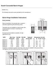 Lee Valley Tools - Soss® Concealed Barrel Hinges