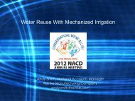 Water Reuse With Mechanized Irrigation