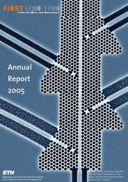 Annual Report 2005 - FIRST - ETH Zürich