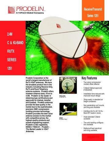 Prodelin Series 1251 2.4m Ku-Band TxRx
