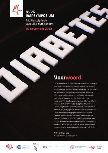 Voorwoord - Nederlandse Vereniging voor Vasculaire Geneeskunde