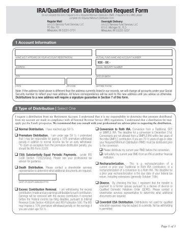 Qualified Plan Participant Distribution Form