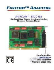 FASTCOM™: ESCC-ISA HARDWARE MANUAL - Commtech ...