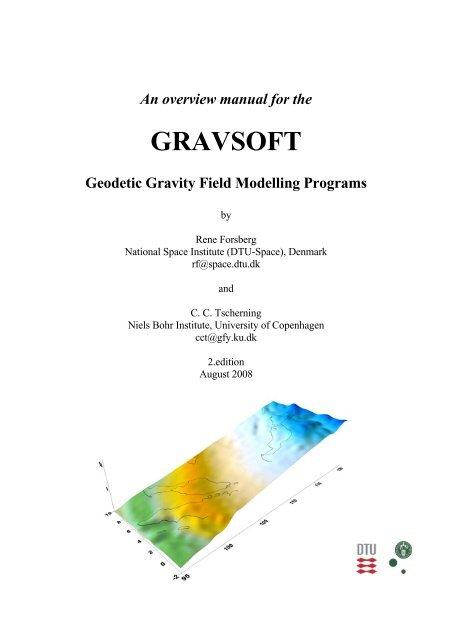 1)Gravsoft – set of KMS/Ucph Fortran programs - Niels Bohr