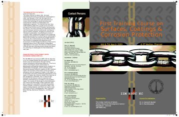 corrosion brochure.cdr - Indian Institute of Metal