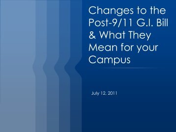 Changes To The Post-9/11 G.I. Bill - Massachusetts Department of ...