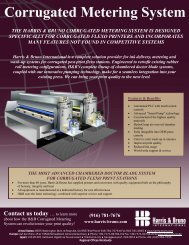 Corrugated Metering System - Harris & Bruno