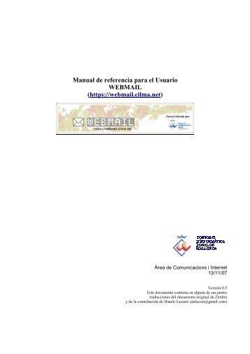Manual de referencia para el Usuario WEBMAIL (https://webmail ...