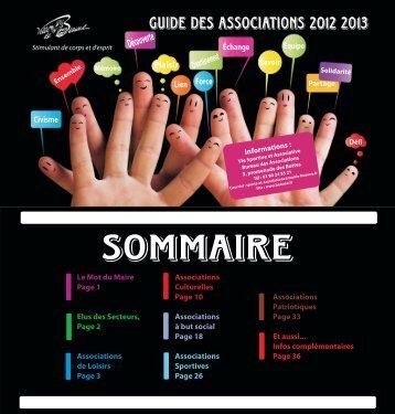 GUIDE DES ASSOSIATIONS septembre 2012 version ... - Beaune