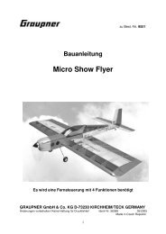 Bauanleitung Micro Show Flyer - RC-Toy