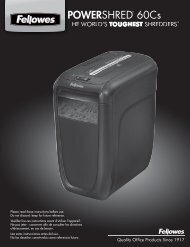 POWERSHRED® 60Cs 60Cs - Fellowes