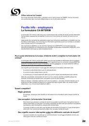 Feuille info - employeurs Le formulaire C4-INTERIM