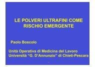 le polveri ultrafini come rischio emergente - ARTA Abruzzo