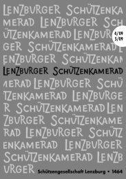 Schützengesellschaft Lenzburg • 1464 4/09 5/09 - SG Lenzburg