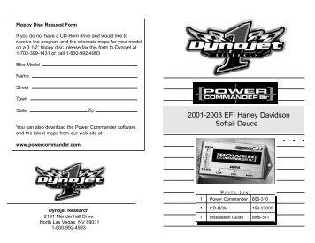 2001-2003 EFI Harley Davidson Softail Deuce - MPS Racing
