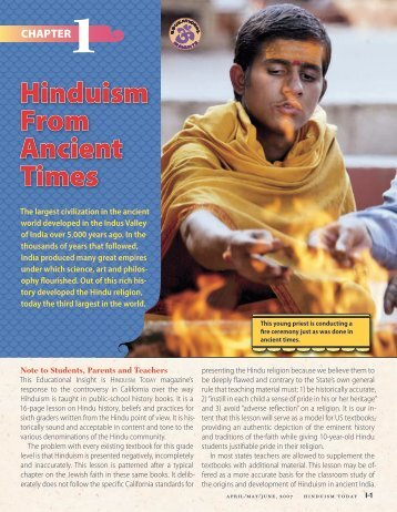 Hinduism From Ancient Times - Hinduism Today Magazine