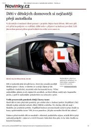 Děti v dětských domovech si nejčastěji přejí autoškolu - Spolu dětem