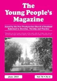 June - the Free Presbyterian church of Scotland