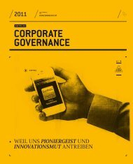 CORPORATE GOVERNANCE - Konzernbericht 2011 - SolarWorld AG