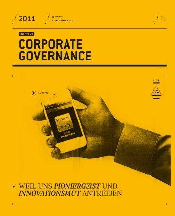 CORPORATE GOVERNANCE - Konzernbericht 2011 - SolarWorld AG