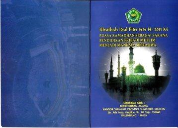 Unduh Khutbah Idul Fitri 1434 H - Kemenag Sumsel