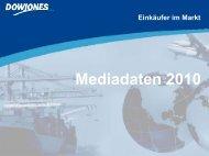Mediadaten 2010 - Dow Jones Business Newsletters