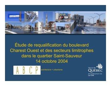 Étude de requalification du boulevard Charest Ouest et des secteurs ...