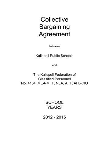 Collective Bargaining Agreement Kalispell School District 5gquality80
