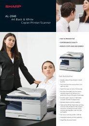 Sharp AL-2040 Brochure