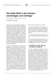 Das Dritte Reich in der Literatur - Erika Mitterer Gesellschaft