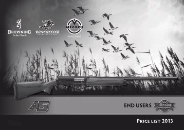 Price list 2013 END USERS Price list 2013 - Browning