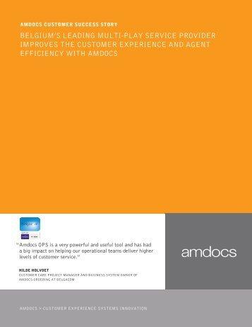 belgium's leading multi-play service provider improves the ... - Amdocs
