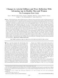 Changes in Arterial Stiffness and Wave Reflection With Advancing ...