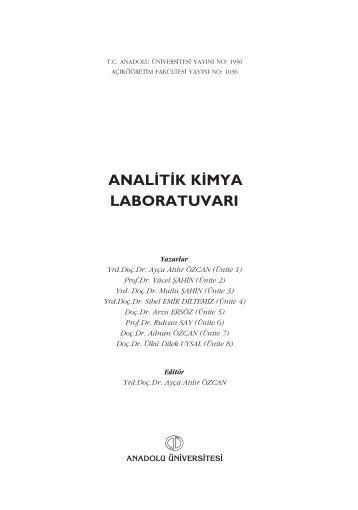 anal‹t‹kk‹mya laboratuvarı - Anadolu Üniversitesi