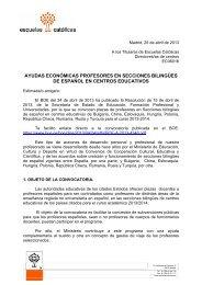 ayudas económicas profesores en secciones bilingües de español ...