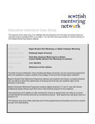 Education Individual Case Study - Scottish Mentoring Network