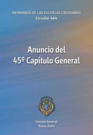 Anuncio del 45º Capítulo General - Hermanos de las Escuelas ...