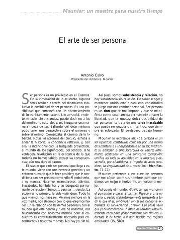 El arte de ser persona