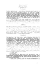QUINCAS BORBA Machado de Assis RUBIÃO fitava a enseada ...