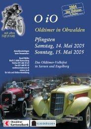 Pfingsten Samstag, 14. Mai 2005 Sonntag, 15. Mai 2005 - O-iO
